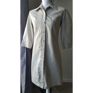 Gap khaki fitted dress